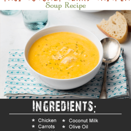 Quick Blend Thai Coconut Curry Chicken Soup Recipe