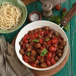 Quick boerewors pasta