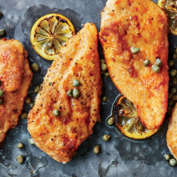 Quick Chicken Piccata with Parslied Orzo
