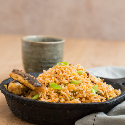 Quick Cinnamon Butter Fried Rice With Grilled Sardines - African Flavours