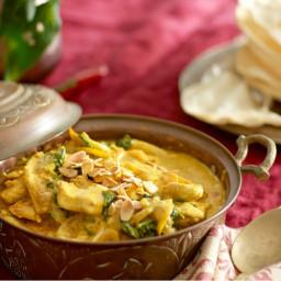 Quick creamy chicken & spinach curry