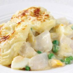 Quick Fish Pie with Peas