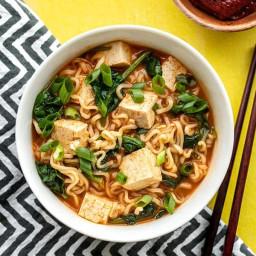 Quick Gochujang Ramen with Tofu