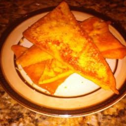 Quick Italian Style Garlic Parmesan Flat Bread