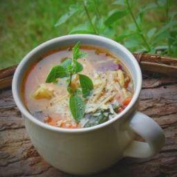 Quick Minestrone Soup {Chop, Heat & Eat}