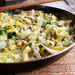Quick One Pot Hungarian Chicken and Noodles With Cabbage
