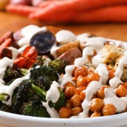Quick-Roasted Veggie Bowl Recipe by Tasty