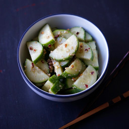 Quick Sesame Cucumbers