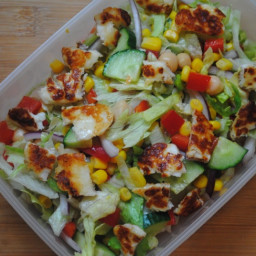 Quick Tasty Halloumi Salad recipe