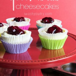 Quick Cherry No Bake Cheesecakes