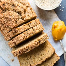 Quinoa + Almond Flour Pumpkin Bread