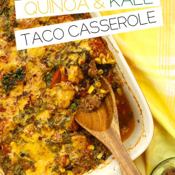 Quinoa and Kale Taco Casserole