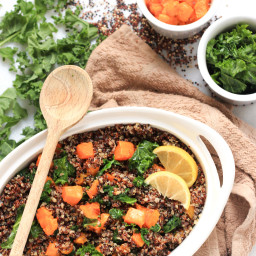 Quinoa, Butternut Squash and Kale Salad