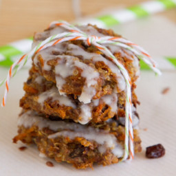 Quinoa Carrot Cake Breakfast Cookies