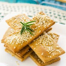 Quinoa Chickpea Crackers