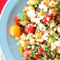 Quinoa Chickpea Veggie Salad