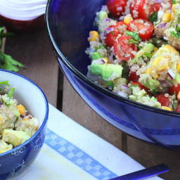 Quinoa Corn and Avocado Salad