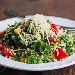 Quinoa Kale Tomato Corn Salad