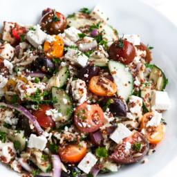 Quinoa Orzo Greek Salad