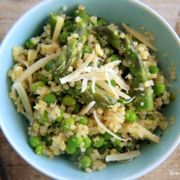 Quinoa Salad with Asparagus and Peas