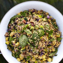 Quinoa Salad with Grilled Zucchini and Habanero Oil