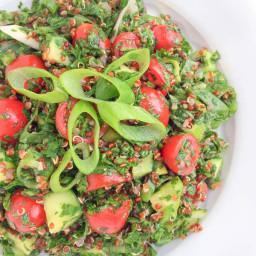 Quinoa Tabbouleh Salad {5 Tips for Effortless Entertaining}