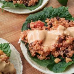 Quinoa Tacos with Lava Sauce