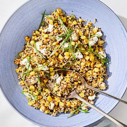 Quinoa with Caramelized Corn and Scallions