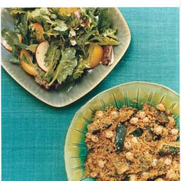 Quinoa with Grilled Zucchini, Garbanzo Beans, and Cumin