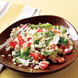 Quinoa with Roasted Garlic, Tomatoes, and Spinach