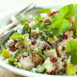 Quinoa with Watercress, Pears and Pomegranates