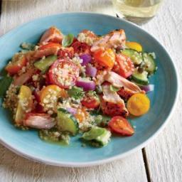 Quinoa Panzanella with Wild Salmon