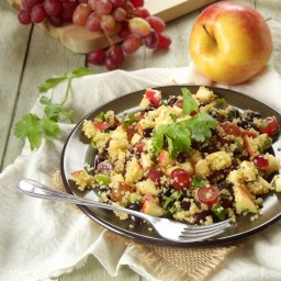Quinoa Salad with Black Beans, Apples and Red Grapes + Broccoli, Love  and
