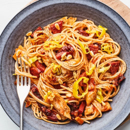 """""""Antipasto"""" Pasta with Sausage, Artichoke Hearts, and Sun-Dried T"""