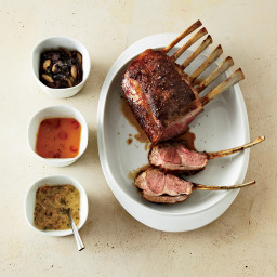 Rack of Lamb with Mustard-Shallot Sauce