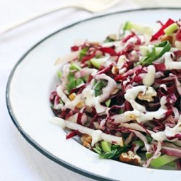 Radicchio, Chayote, Asian Pear, Basil and Pecan Slaw
