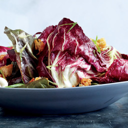 Radicchio Salad with Sourdough Dressing