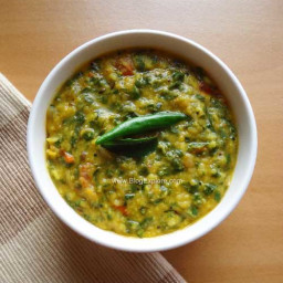 Radish Greens Dal recipe