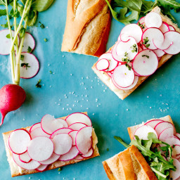 Radish Sandwiches With Butter And Salt