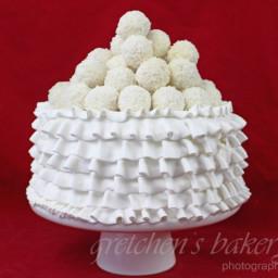 Raffaello Coconut Ruffle Cake