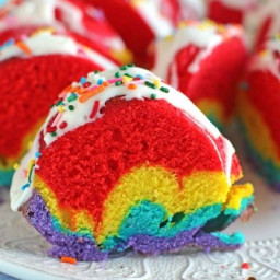 Rainbow Bundt Cake [video]