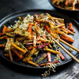 Rainbow Carrot Stir-Fry