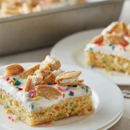 Rainbow Chip Dump Cake