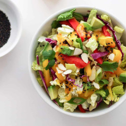 RAINBOW CHOP SALAD + SPICY MANGO DRESSING