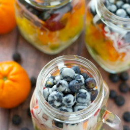 Rainbow Fruit Salad In A Jar with Citrus Yogurt Dressing