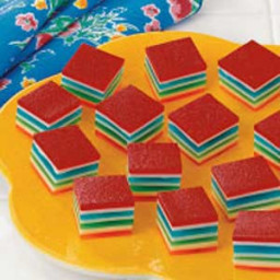 Rainbow Gelatin Cubes Recipe