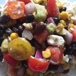 Rainbow Salad Concoction