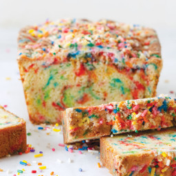 Rainbow Sprinkle Bread with Birthday Crumb Topping