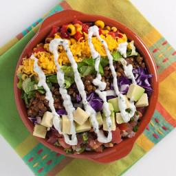 Rainbow Taco Lentil Salad