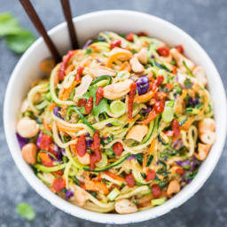 Rainbow Veggie Dragon Noodles